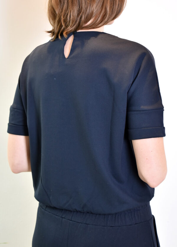 Penn & Ink Sweater S21T580 top navy back