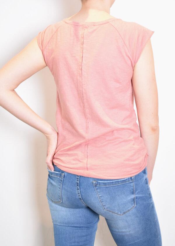 Penn & Ink t-shirt S21F877325 terracotta back