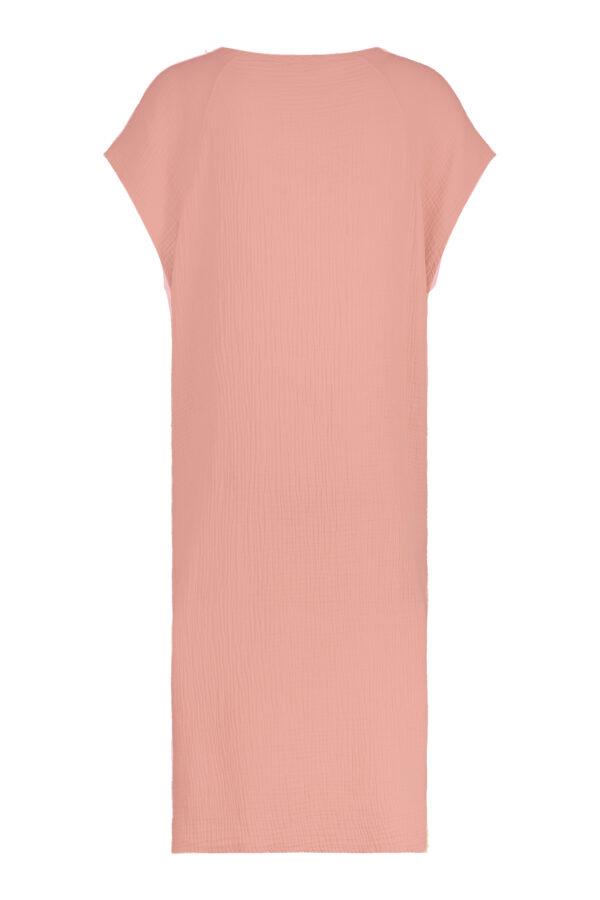 Penn & Ink Dress S21T530 terracotta back