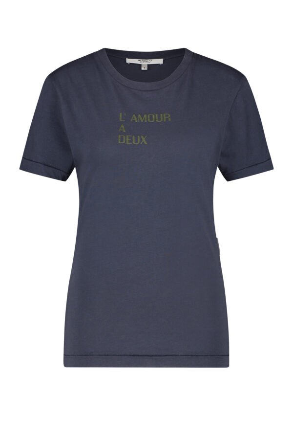 Penn & Ink S21T556 navy t-shirt front