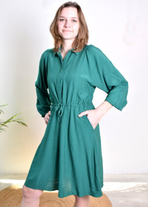 SR221-717 Manna shirt dress lush meadow model side