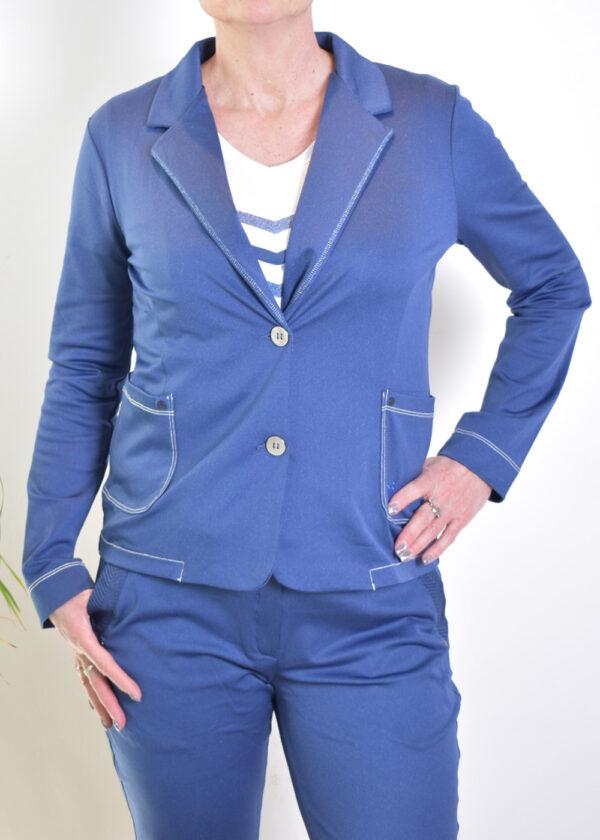 HBT Denim Shirley veste indigo blazer front closed