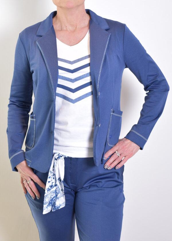 HBT Denim Shirley veste indigo blazer front open
