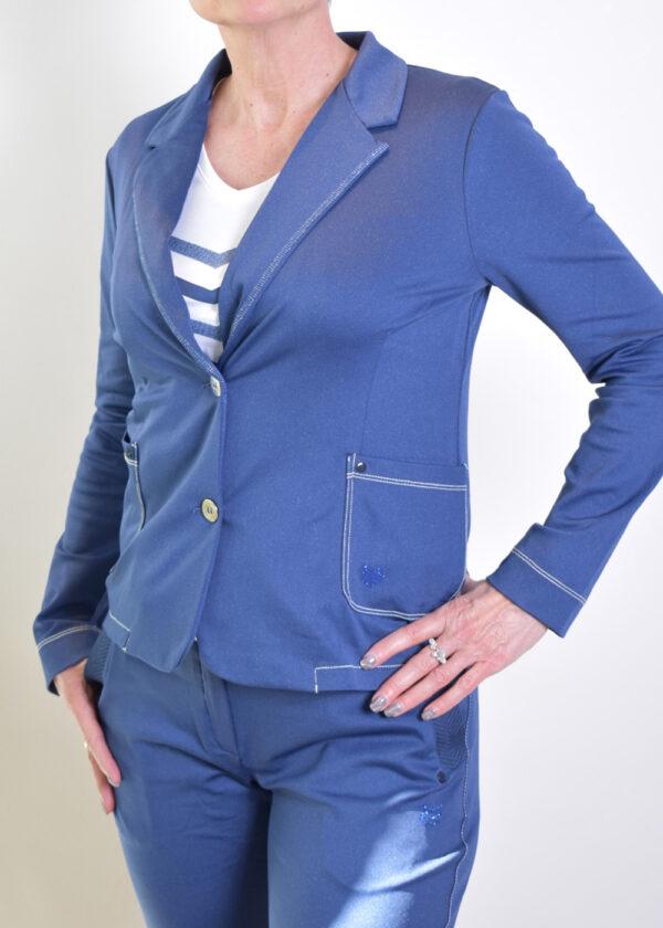 HBT Denim Shirley veste indigo blazer side