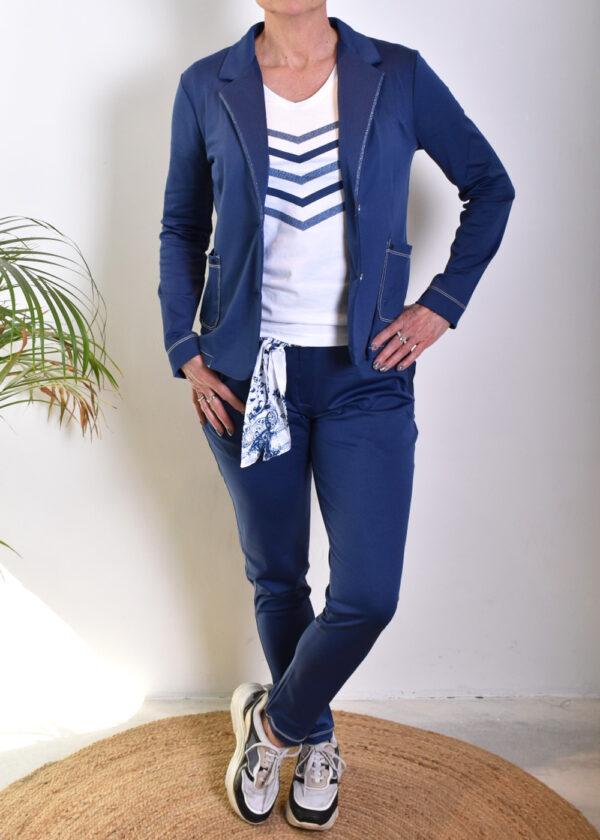 HBT Denim christina pantalon indigo city and HBT Denim Shirley veste indigo blazer