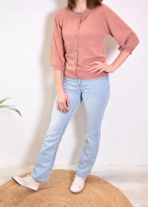 Red Button Babette denim stripe SRB2777 outfit model