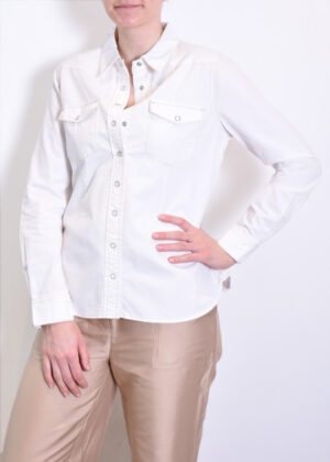 Red Button Boby blouse color offwhite SRB2812 front model