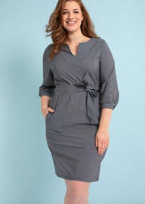 Studio Anneloes 04377-1169 Flex small check dress extended family model 2