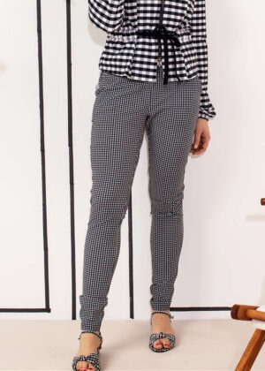 Studio Anneloes 04376-1169 Pascal small check trousers extended family model 3