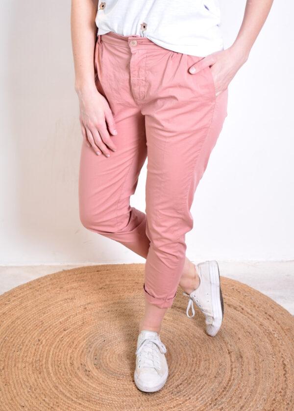 Penn & Ink Trousers W329 Terracotta frony