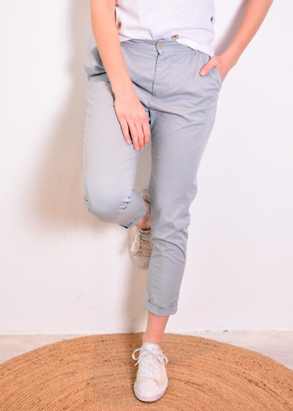 Penn & Ink Trousers W329 pigeon front 2