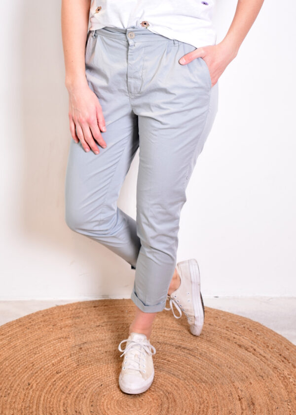 Penn & Ink Trousers W329 pigeon front