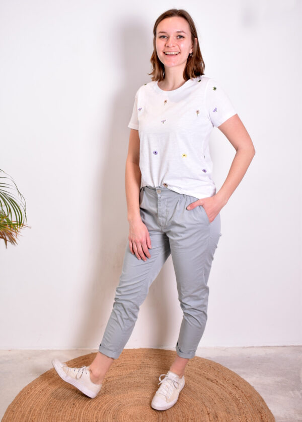 Penn & Ink Trousers W329 pigeon outfit