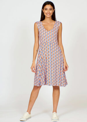 Pretty Vacant Vicky dress Clover front
