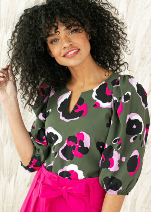 Studio Anneloes Bo-ann arti animal blouse 05599-7458 close up