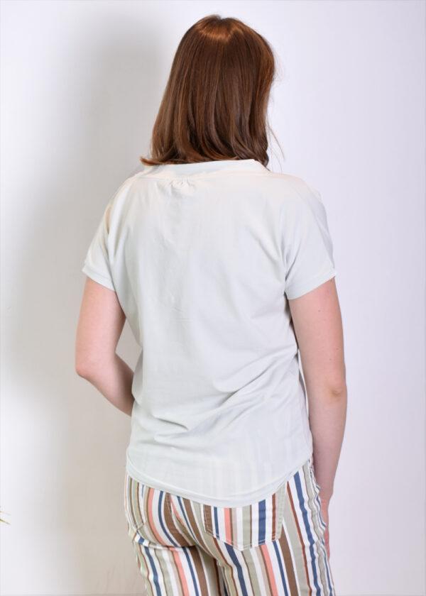 Penn & Ink T-shirt print S21T554 Foggy navy back