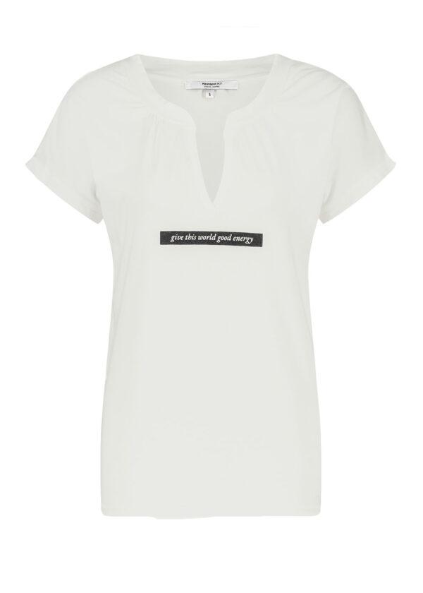 Penn & Ink T-shirt print S21T554 front foggy