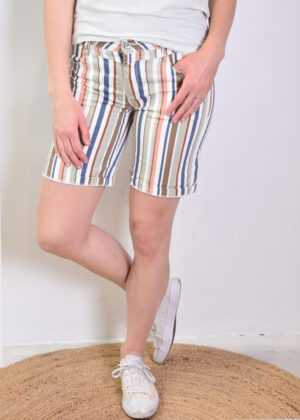 Red Button Relax short multicolor stripe 2834 front model