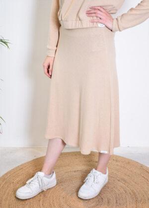 Penn & Ink N.Y. Skirt W21N1054 oatmeal front