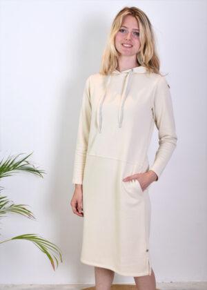 Milano Italy 13-5211-8493-5 sweatdress with hood natur side