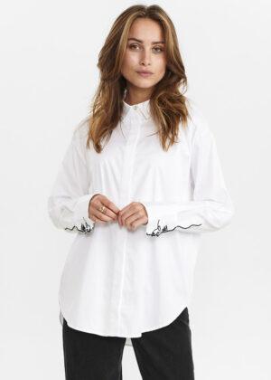 Nümph 700879 Nubellis shirt bright white model front