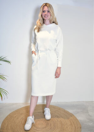 Penn & Ink Dress W21F973 off white front