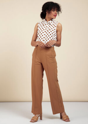 Studio Anneloes 06030-8700 Rae trousers caramel model front