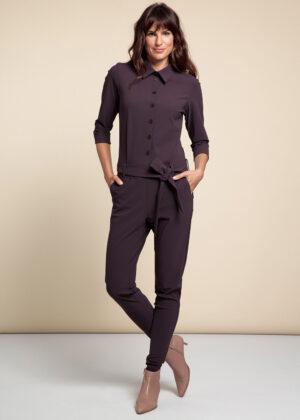 Studio Anneloes 06155-3800 Angelique jumpsuit blackberry model front