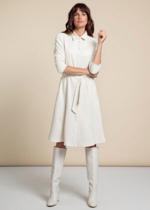 Studio Anneloes 06174-1100 Mindy suede dress off white front
