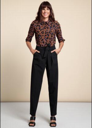 Studio Anneloes 06186-9000 Mita trousers black model front