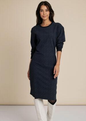 Studio Anneloes 06224-6967 Allcia sweat dress dark blue indigo front