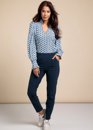 Studio Anneloes 06283-6700 Kate bonded trousers indigo front
