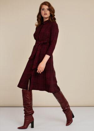 Studio Anneloes 06321-9037 Mindy pdg dress black deep red model side