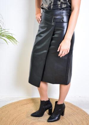 Elsewhere Yara skirt leather 20150 side