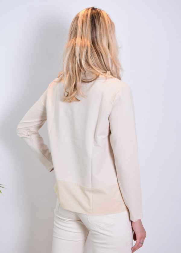 Milano Italy sweatshirt with woven collar and pockets 13-5213-8497-7 back