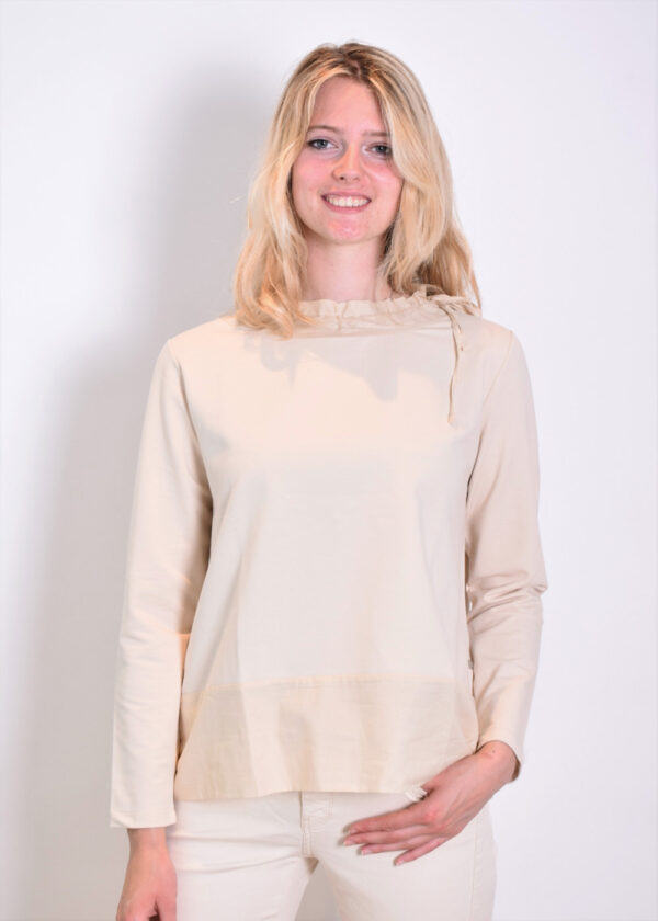 Milano Italy sweatshirt with woven collar and pockets 13-5213-8497-7 front
