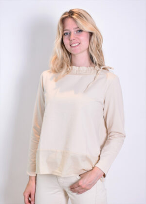 Milano Italy sweatshirt with woven collar and pockets 13-5213-8497-7 side