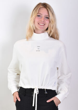 Penn & Ink Sweater print F972 off white front