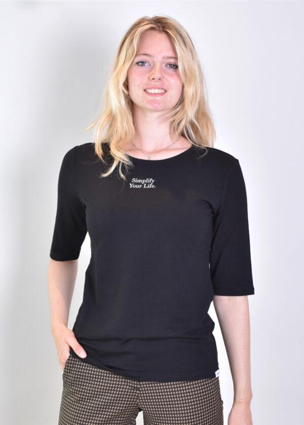 Penn & Ink T-shirt T660 black front