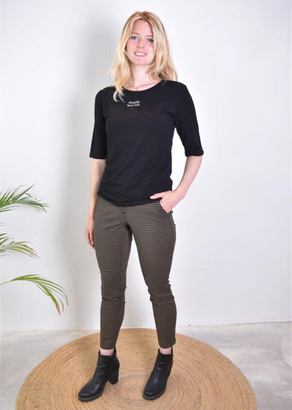 Penn & Ink T-shirt T660 black front2