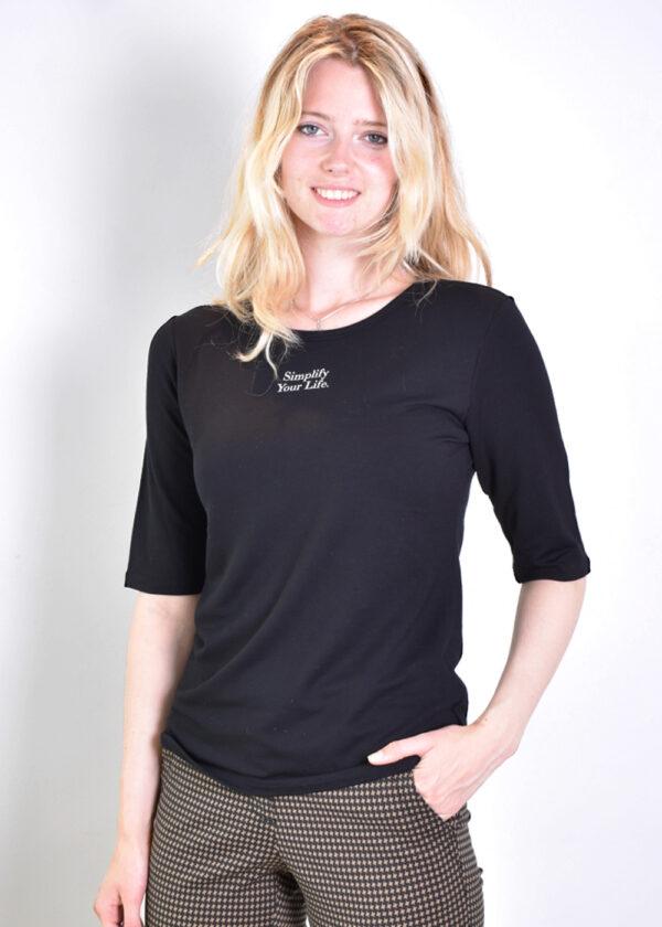 Penn & Ink T-shirt T660 black side