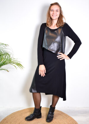 Elsewhere Soop dress Leather 20145 front