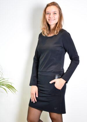 HBT Palace Eugenie robe courte Noir side