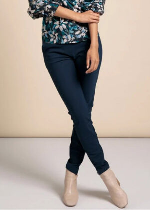 Studio Anneloes Downstairs bonded trousers indigo model front