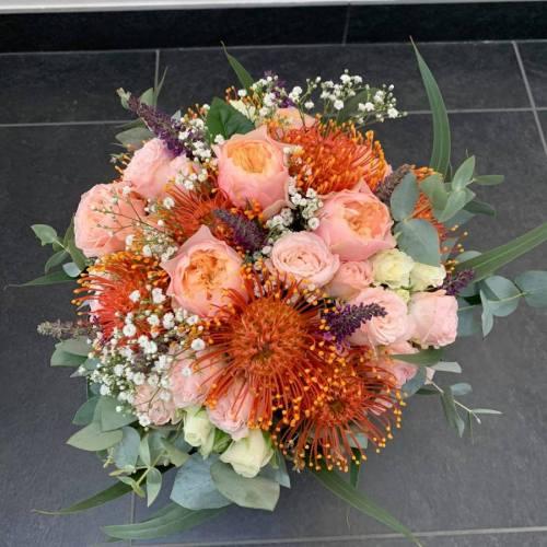 Bruidsboeket | Oranje & roos