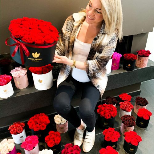 Flowerbox eeuwige rozen
