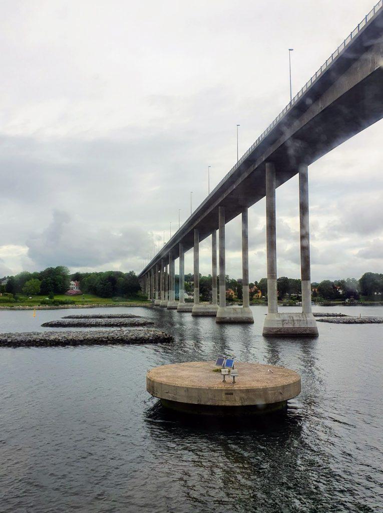 Svendborgsundbroen set fra Ærøfærgen