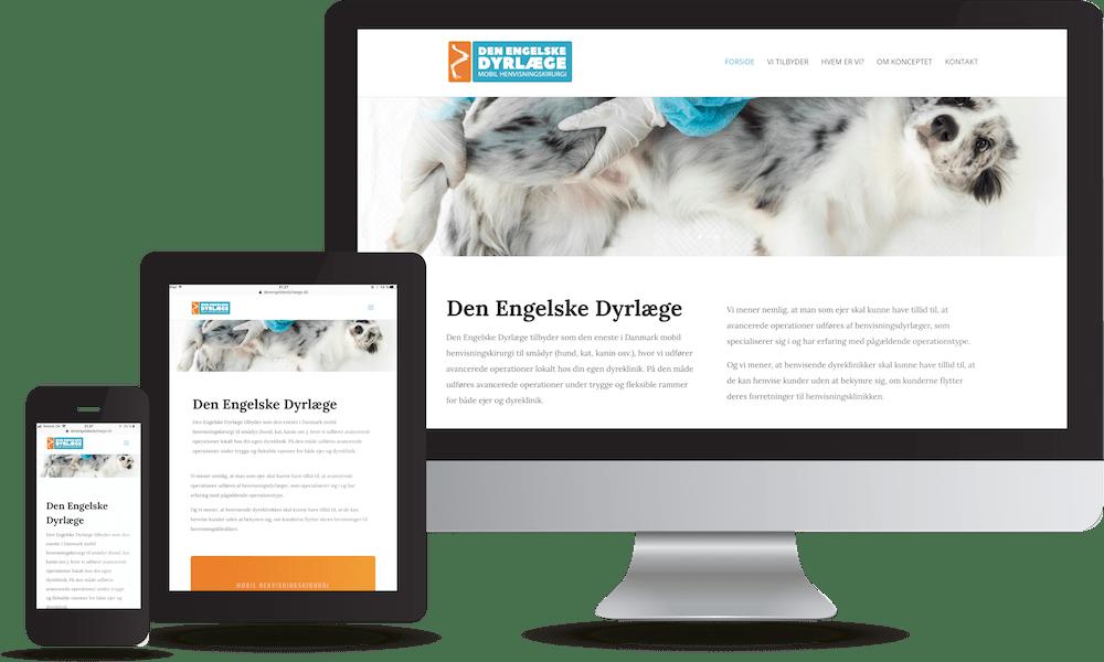 Den engelske dyrlæge hjemmeside