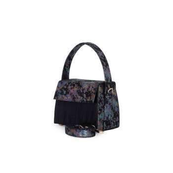 Bailey Mini Box Bag -Metallic Black