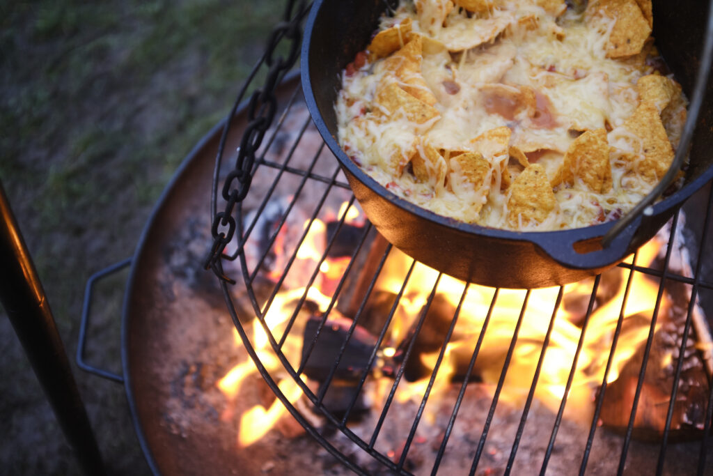 Kampvuur-Dutch Oven-Nacho